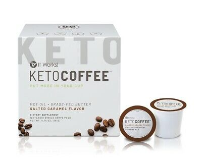 $42 • Buy New It Works! Keto Coffee Kcups Pods Salted Caramel Flavor Free Shipping!