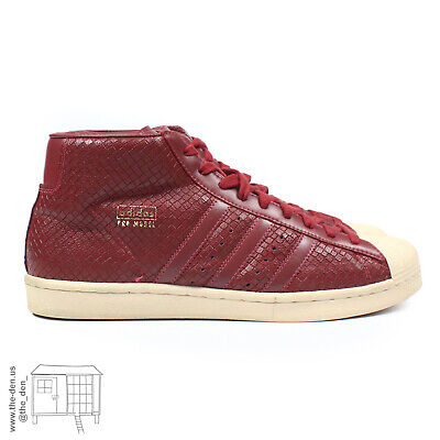 £50.70 • Buy Vintage 2006 Adidas Pro Model 80s Burgundy Leather Shell Toes Superstars 012109