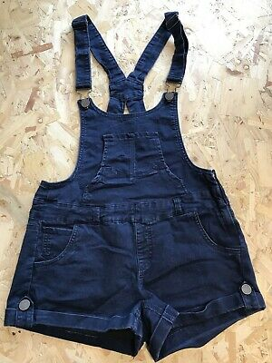 Girls Dungarees Shorts  Age 13-14 Years YMI Jeans Blue D982 • 8.99£