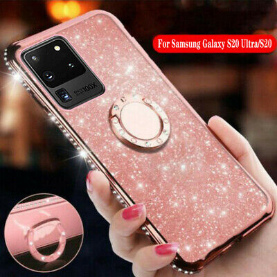 $ CDN5.74 • Buy Shockproof Glitter Bling Ring Cover Case For Samsung Galaxy S20 Ultra S10 S9 S8+