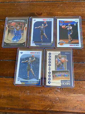 $42 • Buy Zion Williamson Rookie Card Lot! 5 Different Cards! Duke, Pelicans! Nice!