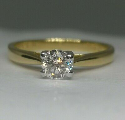 £2,700 H. Samuel's 0.40ct Forever Diamond Solitaire Ring 18ct Yellow Gold • 550£