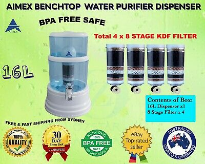 AU120 • Buy Aimex Water Purifier 16L Bench Top Dispenser 8 Stage Water Filter WITH 4 FILTERS