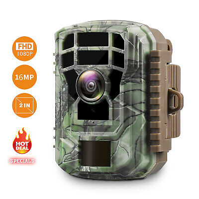 £27.49 • Buy Campark Mini Trail Camera 1080P Game Cam Wildlife Scouting Hunting Night Vision