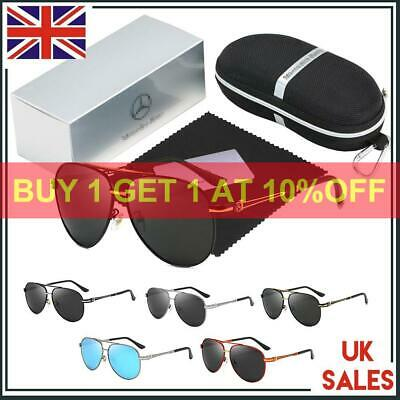 Car Driving Sports Golf Sunglasses UV400 Mercedes Benz Logo With Brand Box Men • 12.40£
