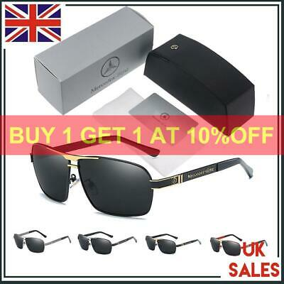 Fashion Designed UV400 Sunglasses Outdoor Mercedes Benz Logo With Brand Box • 12.40£