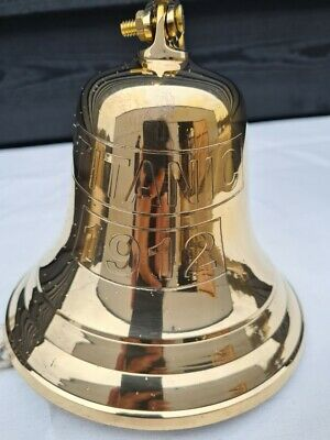 Brass Titanic Ship 5 Inch Bell Wall Mounted Antique Nautical Marine • 16.99£