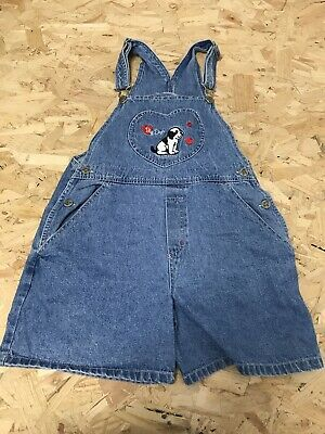 Girls Dungarees Shorts Age 13 To 14 Years Little Big Dogs Blue Denim D1043 • 11.99£