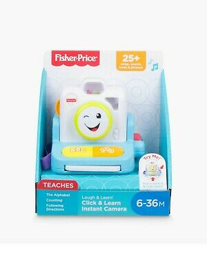 Fisher Price Click & Learn Instant Camera With Sounds Toy NEW • 16.95£