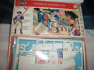 AIRFIX 54mm AMERICAN SOLDIER 1775 MODEL KIT NEW VINTAGE FIGURE SHOP STOCK • 4.20£