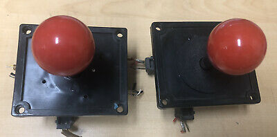 $33 • Buy 2 X Red Ball Top WICO Arcade Joysticks Leaf Switches 8-Way Robotron Un-Tested