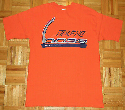 $ CDN27.05 • Buy T Shirt Vintage 90s Street Wear Boss IG Design Orange Single Stitch Hip Hop XL