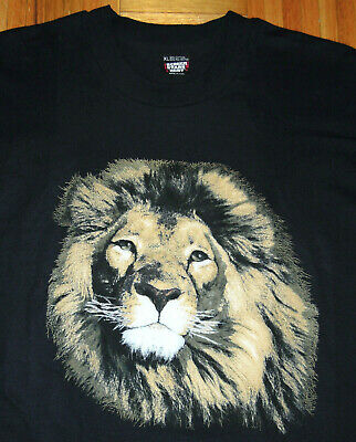 $ CDN40.59 • Buy Lion T Shirt Vintage 90s Black Single Stitch Wildlife Nature Puffy Graphic XL