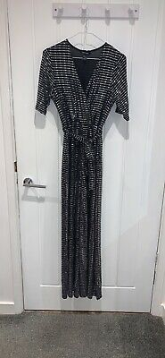 Beautiful Black & Silver Sequin Dressy Sparkly Jumpsuit Size 12 From Newlook • 8£