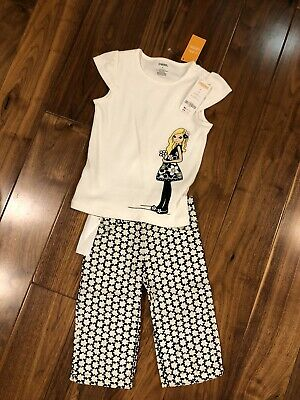 $14.99 • Buy Gymboree Bee Chic 4 Diva Daisy Girl Shirt Ivory With Matching Pants CUTE Outfit