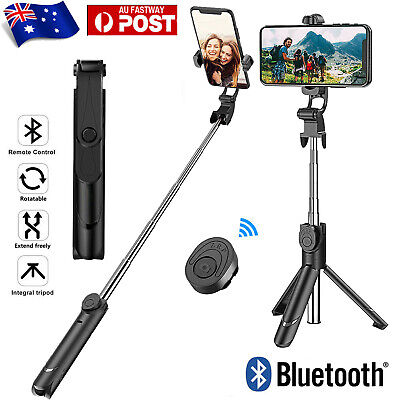 AU15.79 • Buy Bluetooth Monopod Tripod Selfie Stick Handheld Wireless Remote For IOS Android