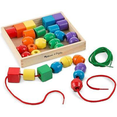 Melissa & Doug Primary Coloured Lacing Beads In Box - Fine Motor Skill Toy - 3+ • 9.96£