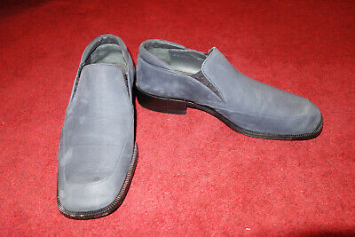 BALLY MENS Slip On Smart Shoes Blue Suede Swiss Made UK SIZE 6  EXCELLENT • 75£