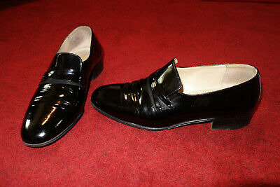 BALLY MENS Slip On Smart Shoes BLACK LEATHER Italy Made UK SIZE 6 EXCELLENT • 75£