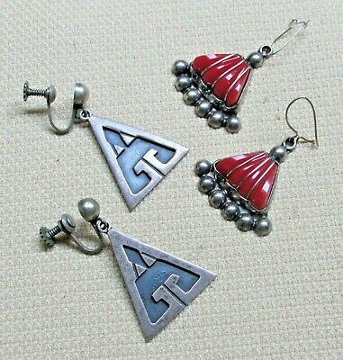 $ CDN60.57 • Buy Vtg Sterling Silver Jewelry Coral Lot Earrings DELL RIO FJM TAXCO Signed 226a