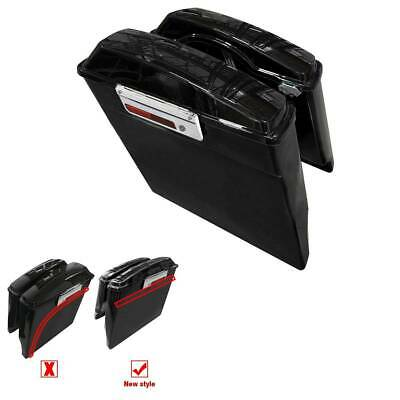 $229.37 • Buy New Style Stretched Extended Hard Saddlebags For Harley Electra Glide Road King