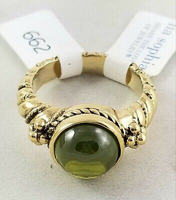 $ CDN28.12 • Buy Lia Sophia Monticello Antique Gold Tone 7.3 Ct. Wt Ring Size 8