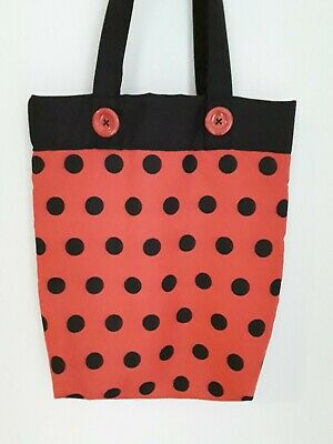 TOTE SHOPPING BAGS HANDMADE BY HellyKelly.B Skulls. Hearts. Cats. Ladybird Spots • 8£