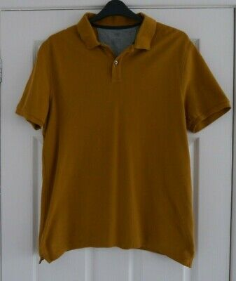 MARKS AND SPENCER Mens Mustard Polo Shirt -large • 3.99£