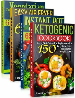 $1.99 • Buy Healty Food Cookbooks 4 In 1  Keto Recipes, Instant Pot, Air Fryer [(P.D.F)]