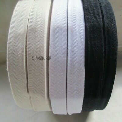 45M Cotton Tape Webbing Sewing Strap Ribbon Roll For Bunting Apron Bag Belt1-5cm • 15.80£