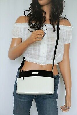 $ CDN107.23 • Buy Kate Spade Jeanne Small Leather Shoulder Crossbody Bag Black White