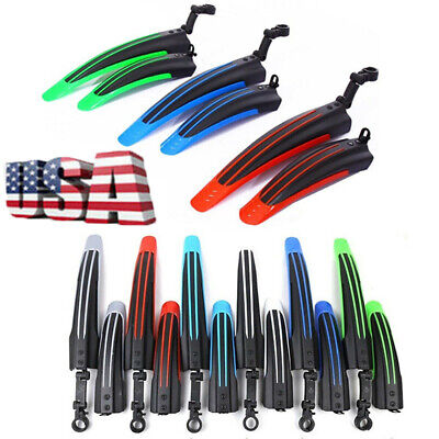 $9.89 • Buy Mountain Bike Fender Mudguard Road Bicycle Cycling Tire Front Rear Mud Guard Set