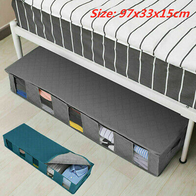 New Large Capacity Under Bed Storage Bag Box 5 Compartments Clothes Organizer AD • 6.89£
