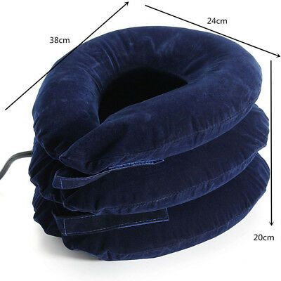 AU14.24 • Buy Air Inflatable Pillow Cervical Neck Headache Pain Traction Support Brace Device