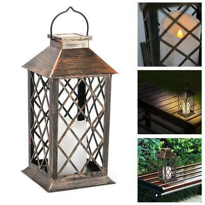 Solar Powered LED Hanging Candle Lantern Light - Waterproof Garden Outdoor • 11.99£