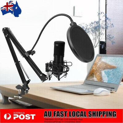 AU49.99 • Buy USB Condenser Microphone For Window &  Multipurpose Mic For Gaming Broadcast