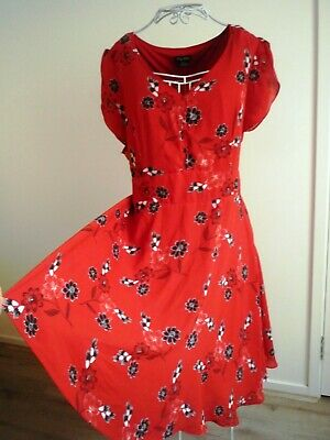 AU19.99 • Buy  AS NEW - CITY CHIC - STUNNING RED Floral Dress Sz  XL