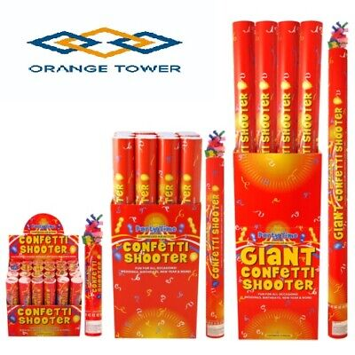£8.99 • Buy Party CONFETTI Cannons Poppers Shooter Wedding New Years Large All Sizes