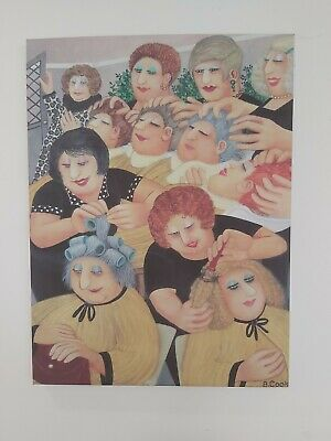 Beryl Cook Hairdressers Print On Canvas  • 10£