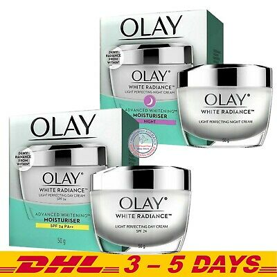 AU48.95 • Buy Olay White Radiance Set : Day Cream SPF24 + Night Cream , 50 Grams