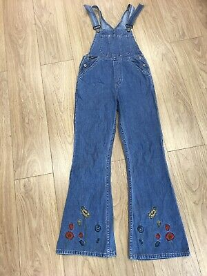 Girls Dungarees Age 13 To 14 Years L.E.I Blue Denim D1177 • 12.99£