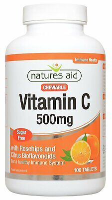 £10.57 • Buy Natures Aid Vitamin C 500mg Sugar Free Chewable - 100 Tablets
