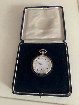 Swiss Movado Pocket Watch 18K Gold 1920's Or Earlier Engraved 1927 • 1,599£