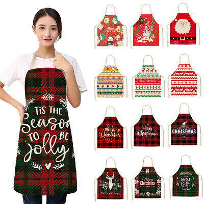£3.99 • Buy Christmas Aprons Kitchen Ornament Women Dinner Cooking Apron Home Decorations