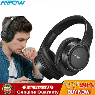 AU46.89 • Buy Mpow H7 Bluetooth Wireless Headphones Over Ear Rechargeable PC Headset Mic HiFi