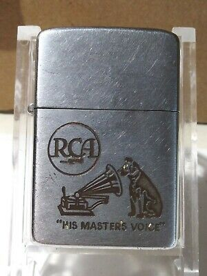 $22.50 • Buy Vintage 1950s RCA His Master's Voice Is Zippo Working Condition New Flint...