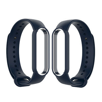AU7.99 • Buy 2x Dark Blue Replacement Silicone Band Rubber Watchband For Xiaomi MI Band 5