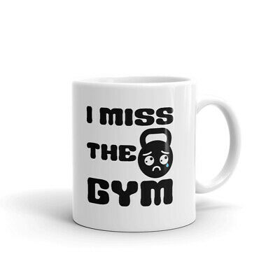 $12.99 • Buy I Miss The Gym Unique Gym Lover Attitude Novelty Cup Gift Coffee Tea Ceramic Mug