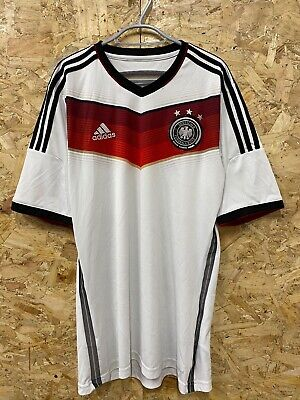 Germany Adidas 2014-2015 White Home S/s Football Shirt Uk Medium Mens Climacool • 19.99£