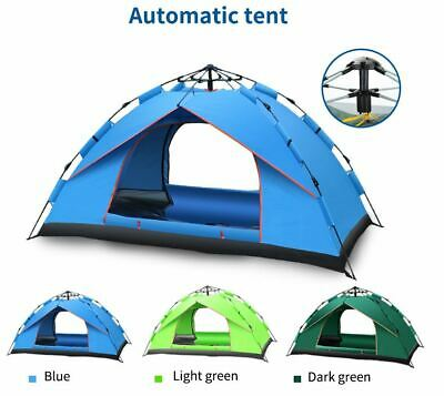AU68.61 • Buy 3-4 Man Persons Tent Instant Auto Pop Up Camping Tent Family